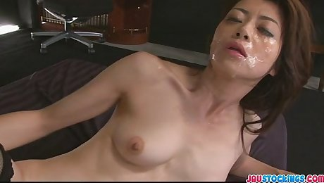 Hot Japanese chick Hojo Maki manhandled